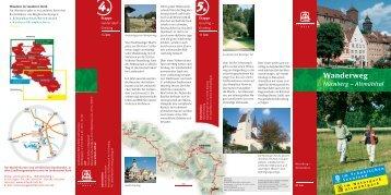 Wanderweg Nürnberg - Altmühltal - Landratsamt Roth