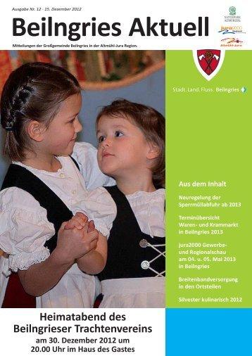 Beilngries aktuell - Ausgabe 12/2012