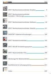 EPIC® Rechtecksteckverbinder Einsätze 9 EPIC ... - Bachofen AG