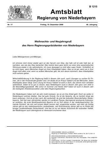 Erste Verordnung zur Änderung des Regionalplans - Die Regierung ...