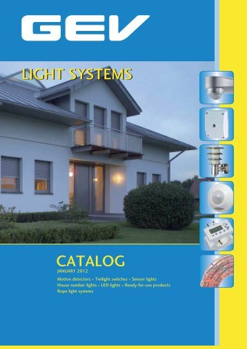 CATALOG LIGHT SYSTEMS LIGHT SYSTEMS - GEV