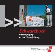 Schwarzbuch Weiterbildung - GEW