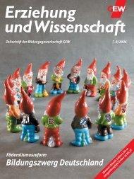 Erziehung und Wissenschaft 7-8/2006 - GEW