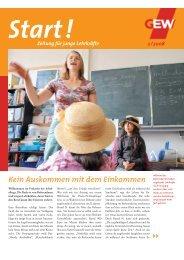 Start!- Zeitschrift für junge Lehrkräfte - GEW