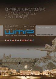 materials roadmaps to meet energy challenges - WMP 2011 World ...