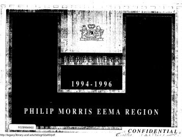 PHILIP MORRIS EEMA REGION - Legacy Tobacco Documents Library