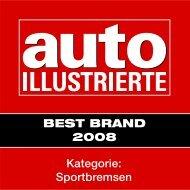 Kategorie: Sportbremsen BEST BRAND 2008 - Delta-Motor AG