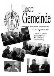 Gemeindebrief April-Mai 09 - reformiert-info.de