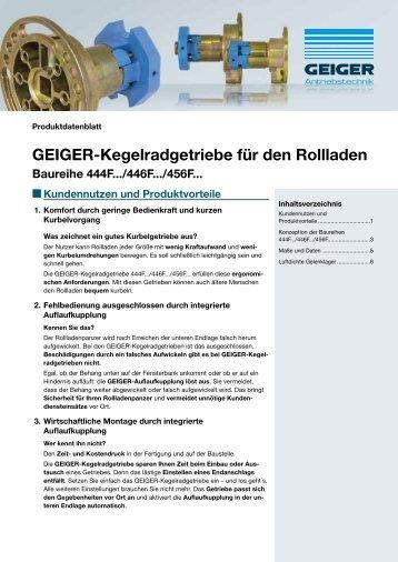 GEIGER-Kegelradgetriebe für den Rollladen - Geiger Antriebstechnik