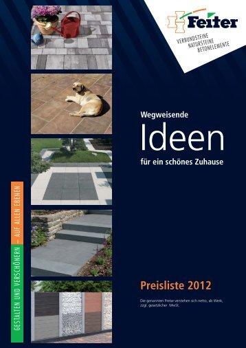 Programmkatalog mit Preisen - Feiter Betonsteinwerk GmbH