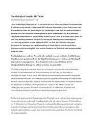 Nachhaltigkeit braucht MUTation - der Hans-Carl-von Carlowitz ...