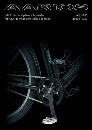 Fabrik für handgebaute Fahrräder seit 1930 Fabrique de vélos - Aarios