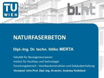 Forschungsprojekt: Naturfaserbeton - Technische Universität Wien