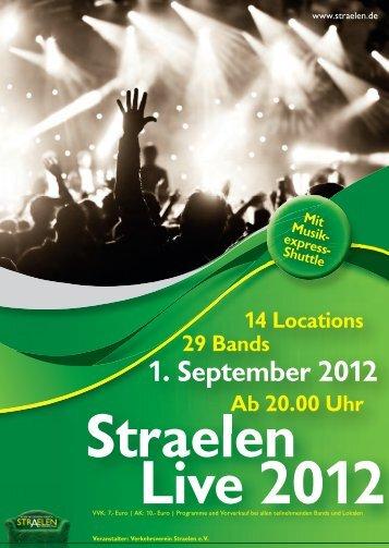 Programmheft Straelen Live 2012 - Stadt Straelen