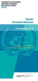 Programm zum Tag der Vereinten Nationen - Unesco