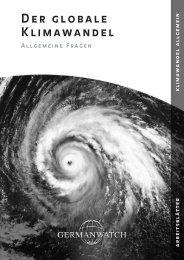Der globale Klimawandel. Allgemeine Fragen - Germanwatch
