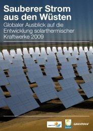 Studie: Sauberer Strom aus den Wüsten - Greenpeace