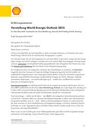 Vorstellung World Energie Outlook 2012 - Shell in Deutschland