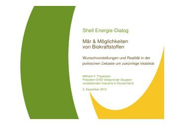 Shell Energie-Dialog Mär & Möglichkeiten von Biokraftstoffen