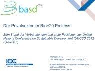 Der Privatsektor im Rio+20 Prozess - Deutsches Global Compact ...