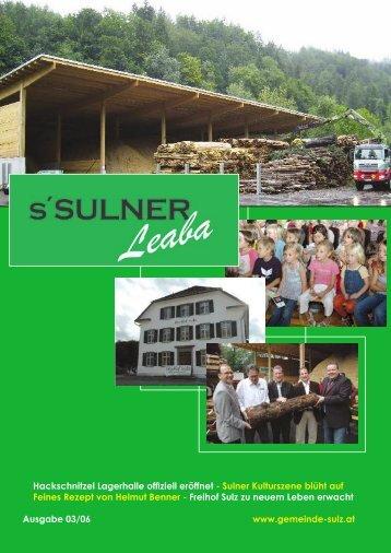 Hackschnitzel Lagerhalle offiziell eröffnet - Sulner ... - Gemeinde Sulz