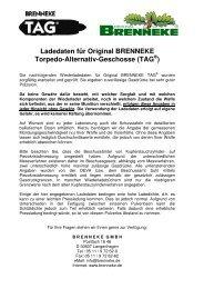 Ladedaten für Original BRENNEKE Torpedo-Alternativ-Geschosse ...