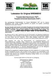 Ladedaten für Brenneke-TIG-TUG-Geschosse  - GEWI