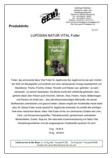 hochwertiges Natur-Vital-Hundefutter - GEWI