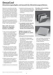 Klimatisierungsaufgabe, Auswahl des Verfahrens ... - Geyer Gruppe
