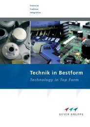 Technik in Bestform - Geyer Gruppe