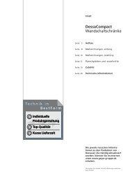 DessaCompact Wandschaltschränke - Geyer Gruppe