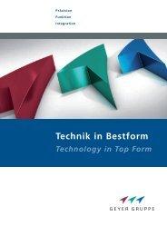Technik in Bestform - Geyer Gruppe