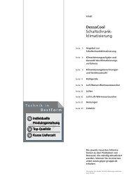 DessaCool Schaltschrank- klimatisierung - Geyer Gruppe