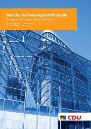 Geschäftsbericht von 2008 (PDF) - CDU Deutschlands