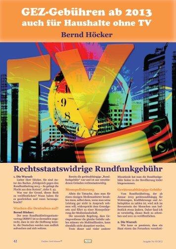 """""""Die Wurzel"""" (PDF mit - GEZ abschaffen!"""