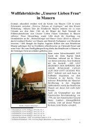 """Wallfahrtskirche """"Unserer Lieben Frau"""" in Mauern - Neustadt an der ..."""