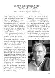 Nachruf auf Reinhard Rieger 10.5.1943 - 11.10.2006