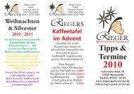 Tipps & Termine - Rieger Partyservice