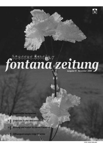 fontana3zeitung - Fontana Passugg