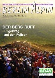 DER BERG RUFT - AlpinClub Berlin