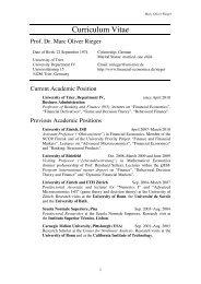 Prof. Dr. Marc Oliver Rieger - Financial Economics
