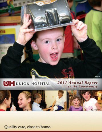 Union Hospital Annual Report to the Community