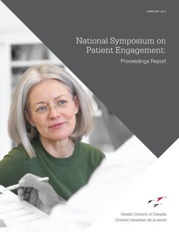 National symposium on patient engagement - Health Council Canada