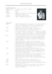 Zum tabellarischen Lebenslauf (Download PDF ) Hier klicken