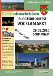 Puchkirchner Gemeindenachrichten - Gemeinde Puchkirchen am ...