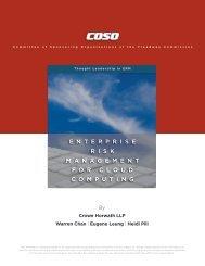 Enterprise Risk Management for Cloud Computing - Coso