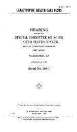 HEARING - U.S. Senate Special Committee on Aging