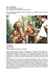 """Film """"Corumbiara"""" Wann: 29. September um 20 Uhr Wo: Metropolis ..."""