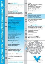 Zum vorläufigen Programm und Beschreibung der Arbeitsgruppen