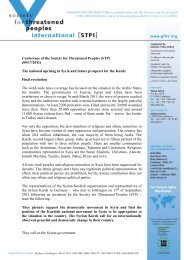 Conference of the Society for Threatened Peoples (STP) (09/17 ...